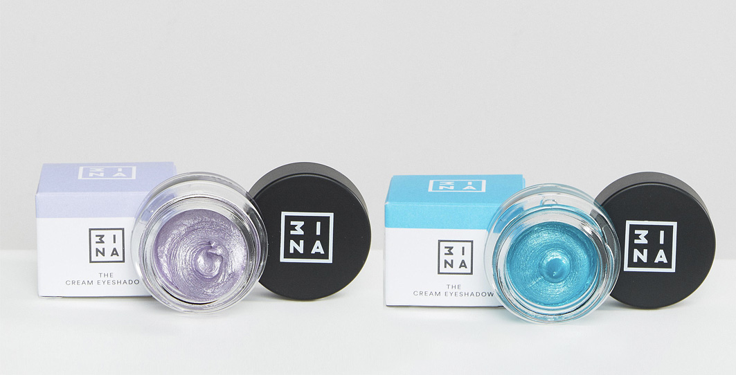 3ina purple turquoise cream eyeshadow review