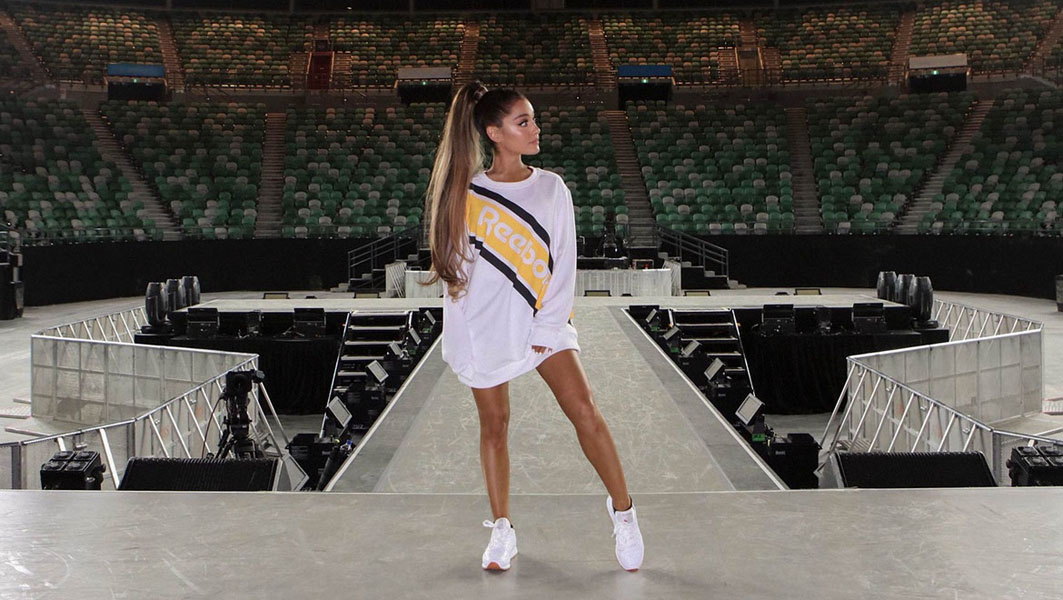 Ariana grande reebok partnership announcement 04