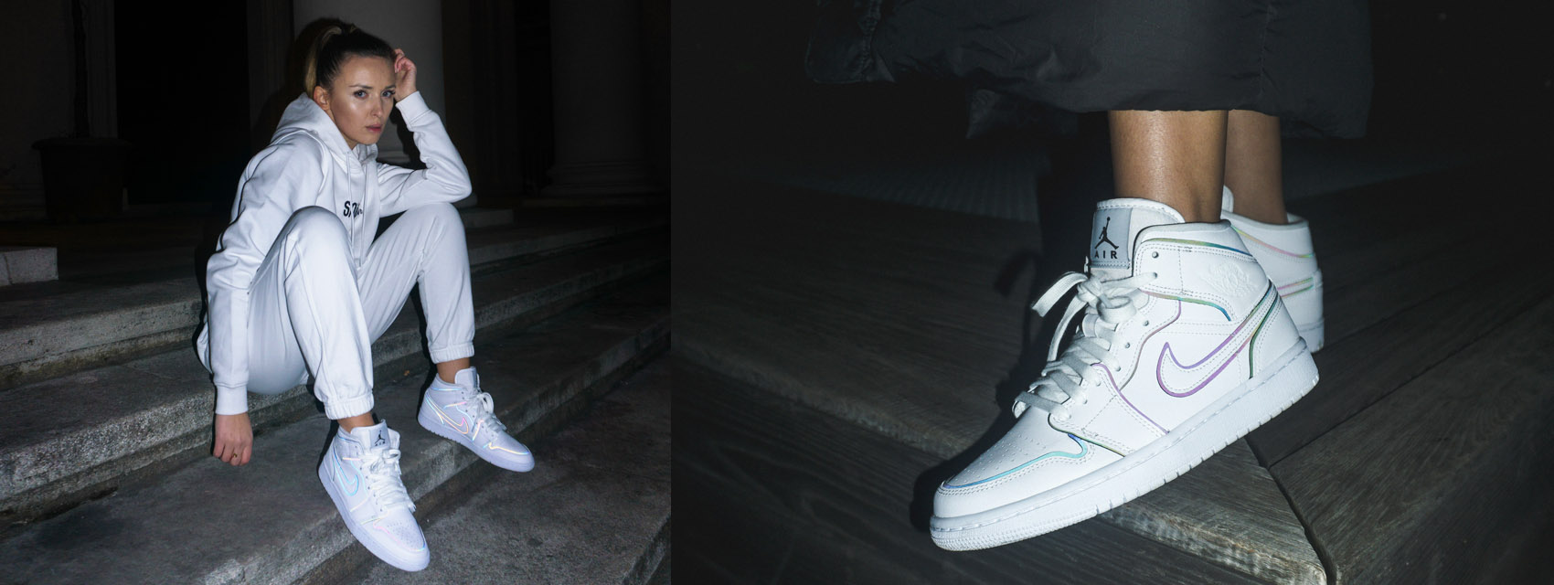 air jordan 1 mid se iridescent reflective