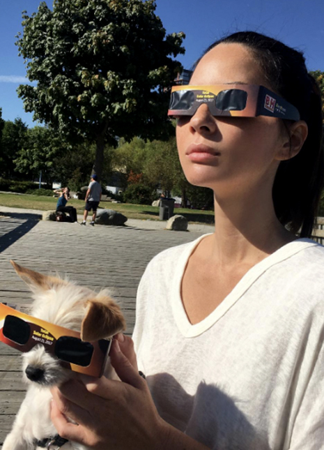 How celebrities celebrated the eclipse