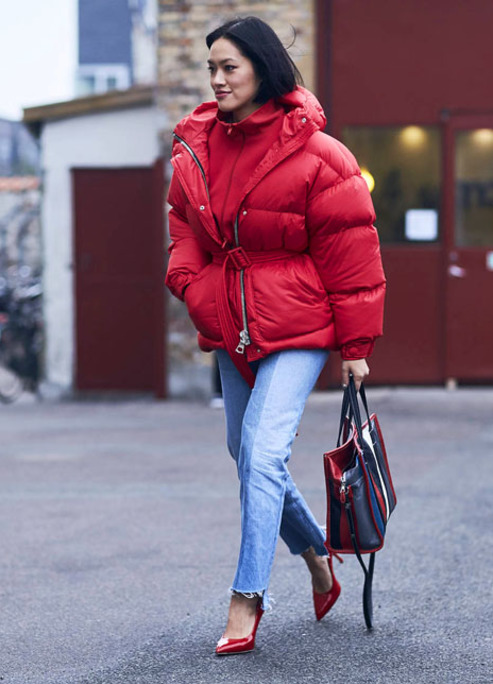 Streetstyle copenhagen red jacket