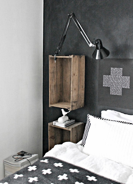 Fruit crates diy urban floating shelf 2