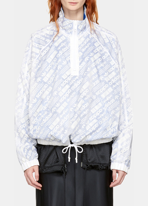 Adidas originals by alexander wang reversible white and blue aw windbreaker jacket2