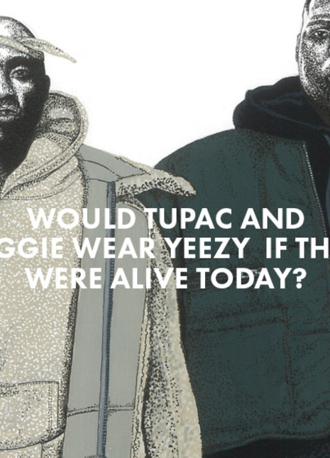 David murray illustrations 2pac biggie yeezy 2