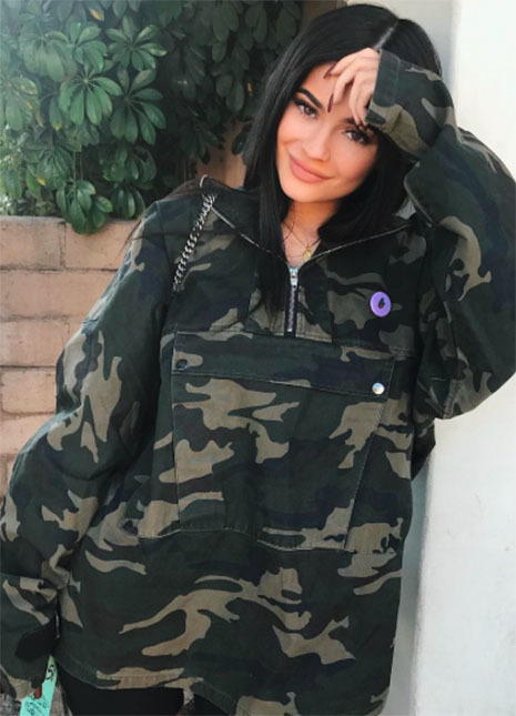 Kylie jenner camouflage trend