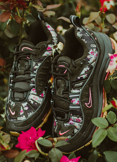 Nike air max 98 sequoia digi floral flower release sneaker sneakerhead streetstyle fizzy mag