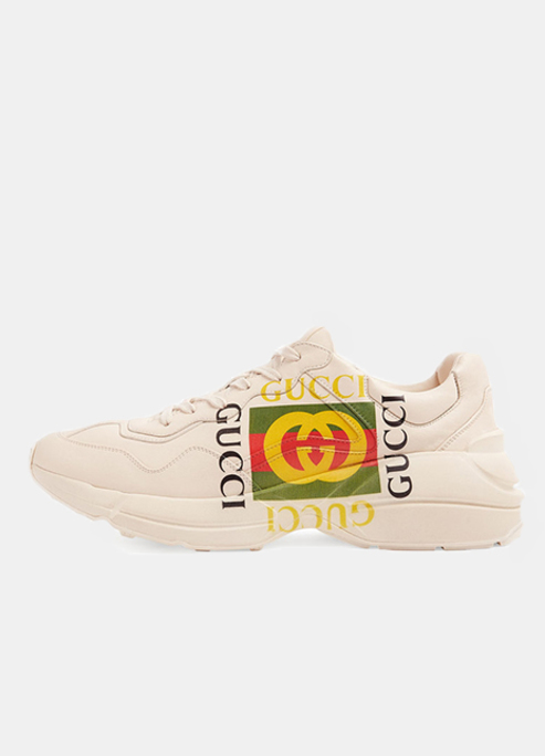 Light rhyton gucci logo leather sneaker3