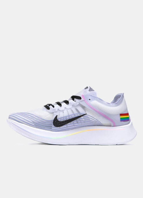 Nike zoom fly sneaker realese pride white flag fizzy mag