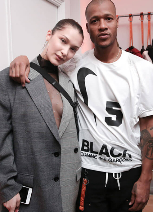 Bella hadid heron preston