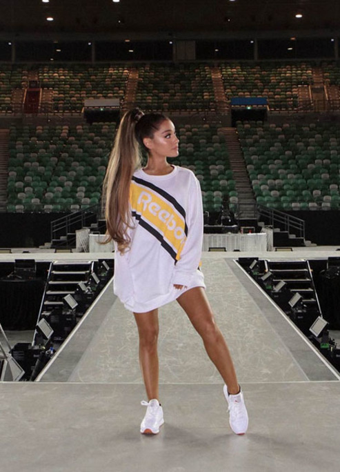 Ariana grande reebok partnership announcement 03