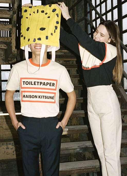 Maison kitsune toilet paper capsule debut fashion style outfits art fizzy mag