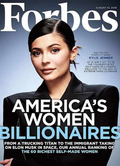 Kylie jenner forbes magazine funding billionaire fizzy mag