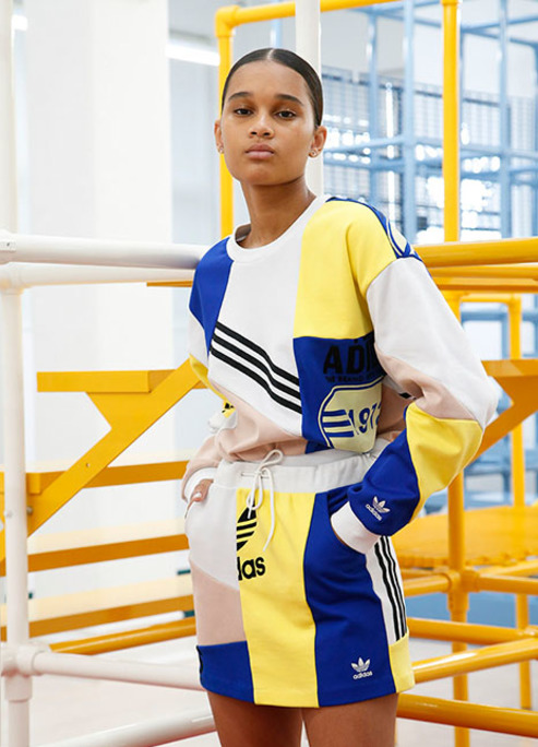 Adidas originals dani e%cc%88lle cathari skaterdress loosefit aline skirt sweater featuring kendall jenner primarycolours pockets