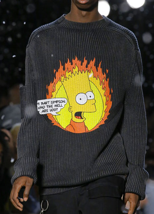 Bart simpson off white virgil abloh ss19 1