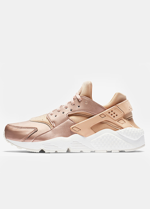 Nike air huarache rose gold updated metallic colorway