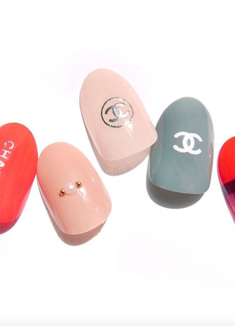 Nail art logo fashion