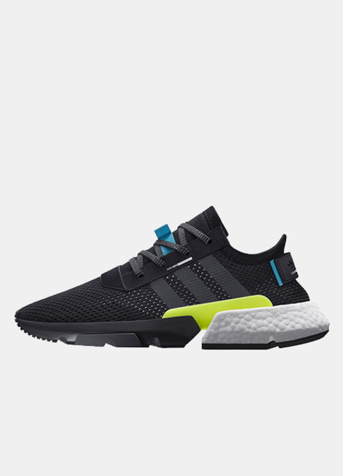 Adidas p o d system release sneaker neon black running shoe fizzy mag