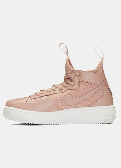Nike pink air force 1 mid ultraforce sneakers5