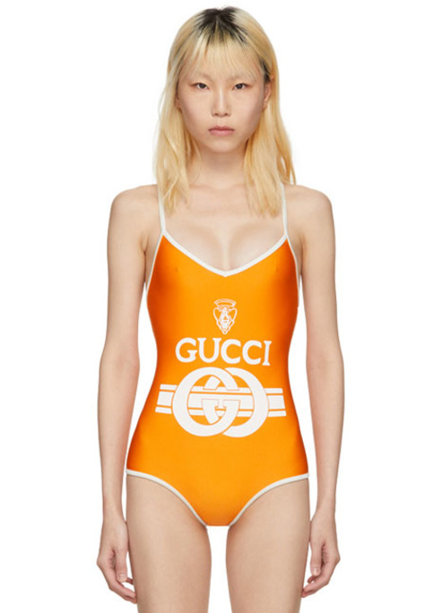 Gucci orange swinsuit