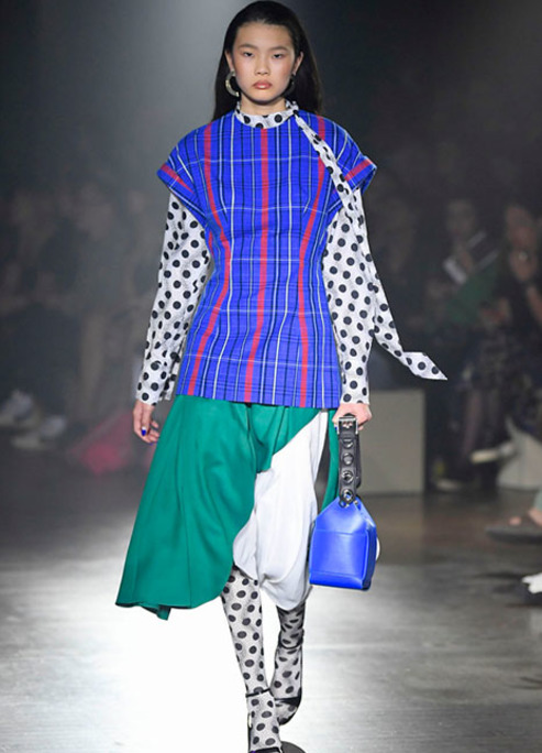 Kenzo spring summer 2019 mens paris fashion week 18 women polkadots bright outfits fizzy mag