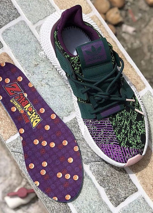 Adidas originals dragon ball z prophere cell anime 90s sneaker release 2018 fizzy mag