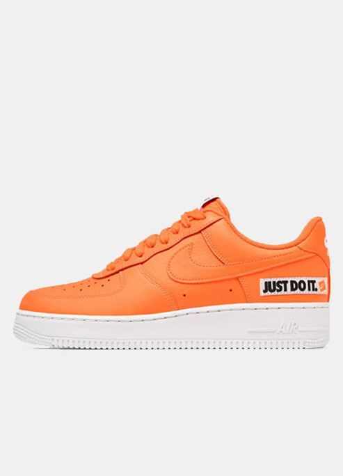 Nike air force one orange white removeable patches just do it sneaker release sneakerhead fizzy mag