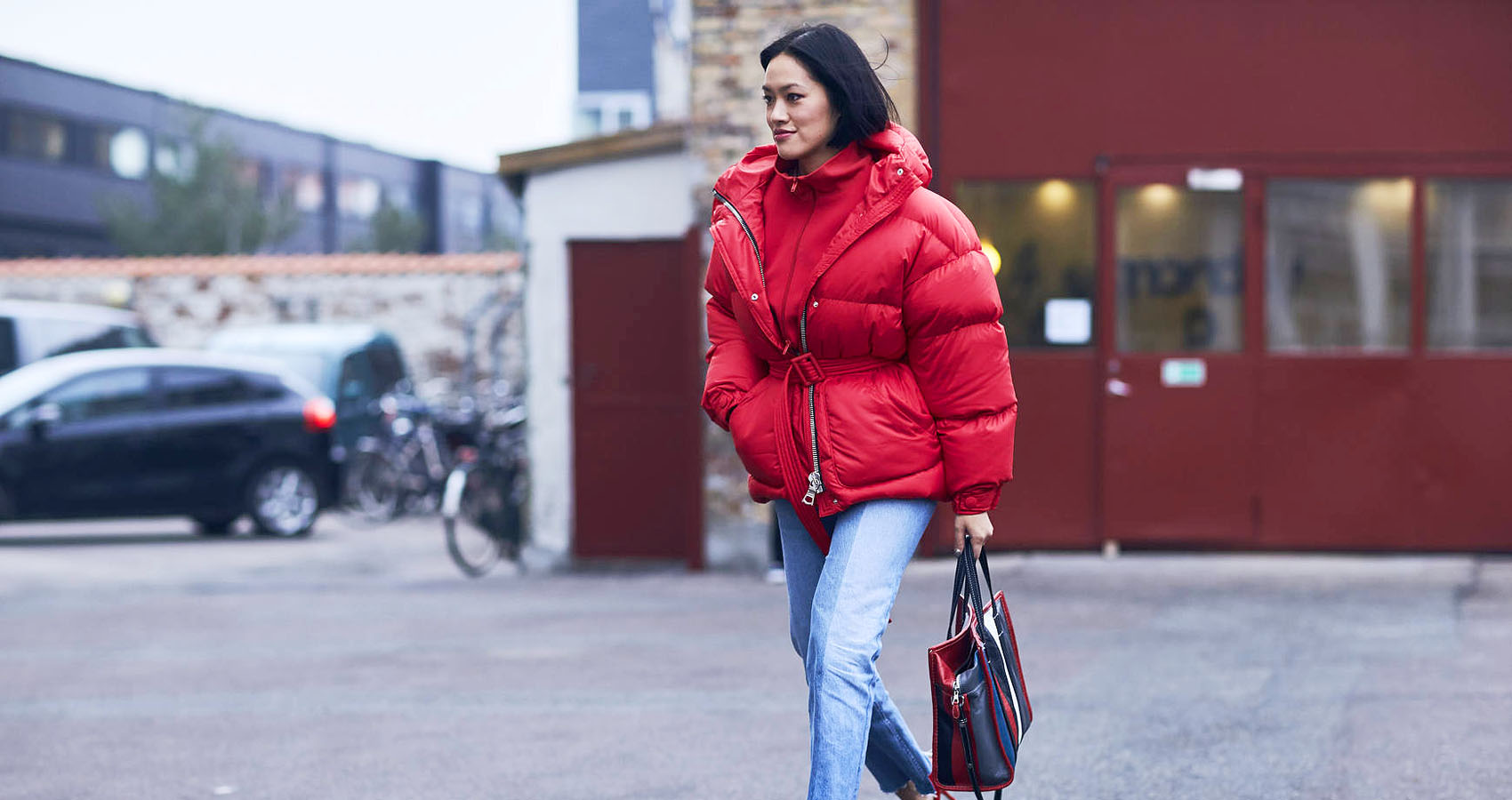 Streetstyle copenhagen red jacket 2