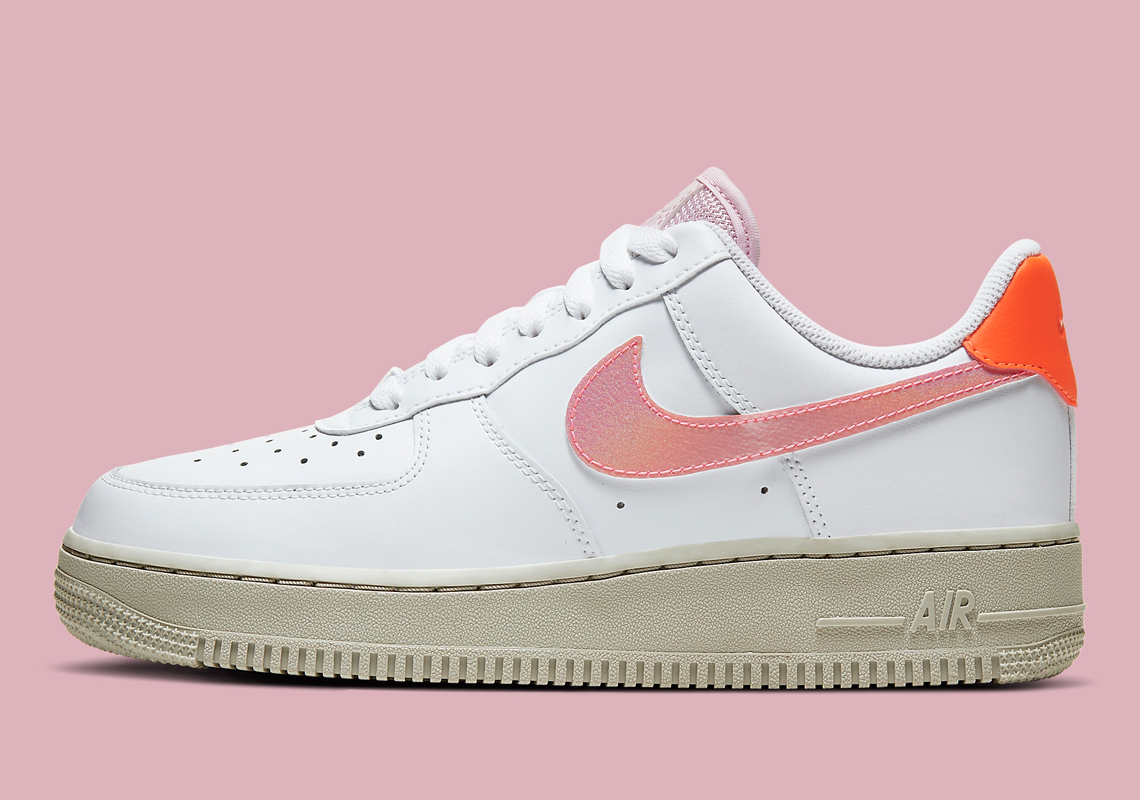 "The Nike Air Force 1 Low ""Digital Pink'' Gets An Update With Beige Soles"