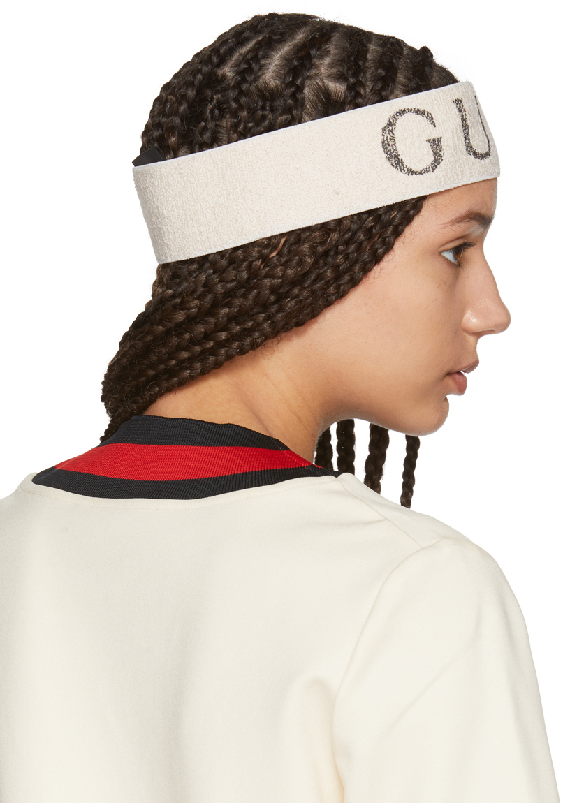Perfect The Sports Luxe Look In This Gucci Logo Headband