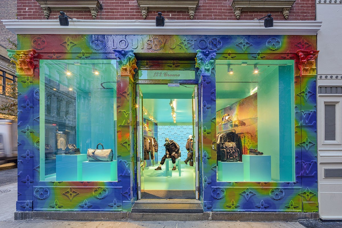 Louis Vuitton Hosts New Soho Pop-Up Store For 2054 Collection