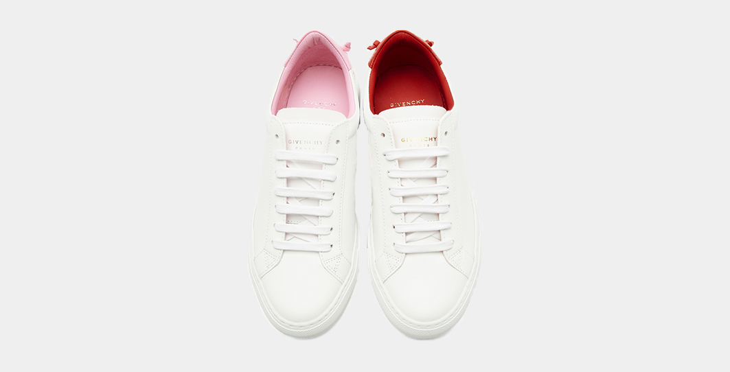 Givenchy white and pink red urban knots sneakers