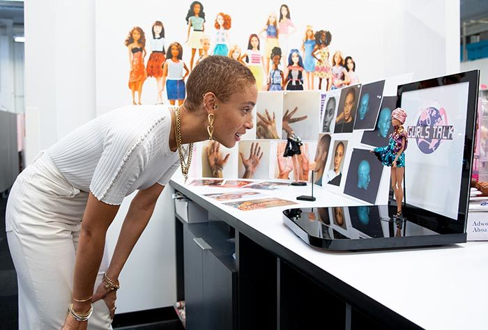 Model Adwoa Aboah Is Turned Into A Barbie For International Women's Day