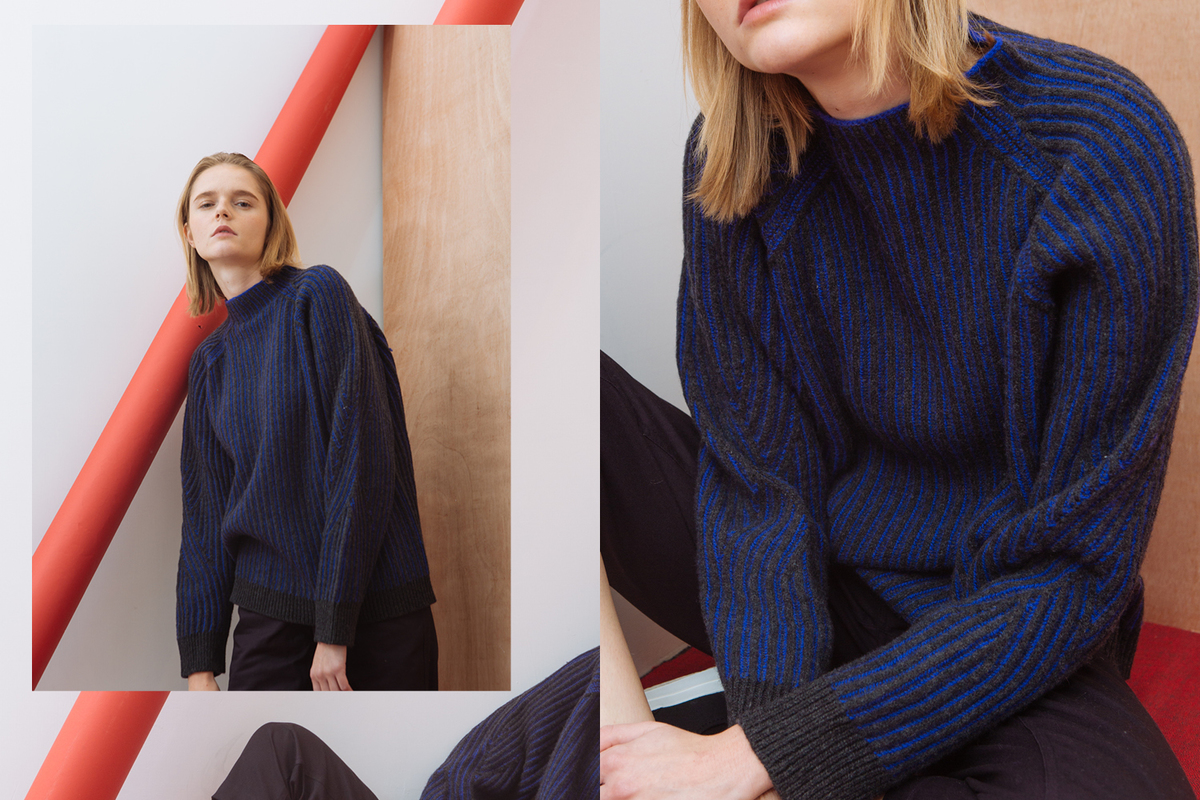 Tricolore Americana: HBX Shoots Maison Kitsuné Fall/Winter 2017