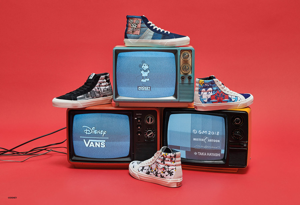 2311c450b35e Vans Teams Up With Four Iconic Artists For Mickey s 90th Disney Celebration