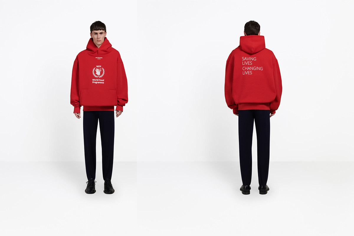 Balenciaga Partners With World Food Programme To End Hunger Balenciaga S New Fall 18 Collection With United Nations