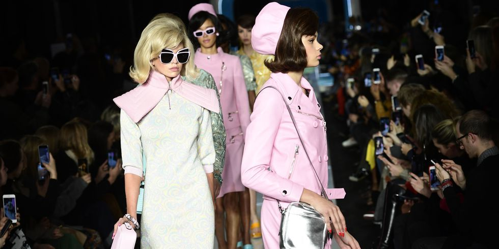 Moschino's FW18 Show Was A Pastel-Popping Jackie O Tribute
