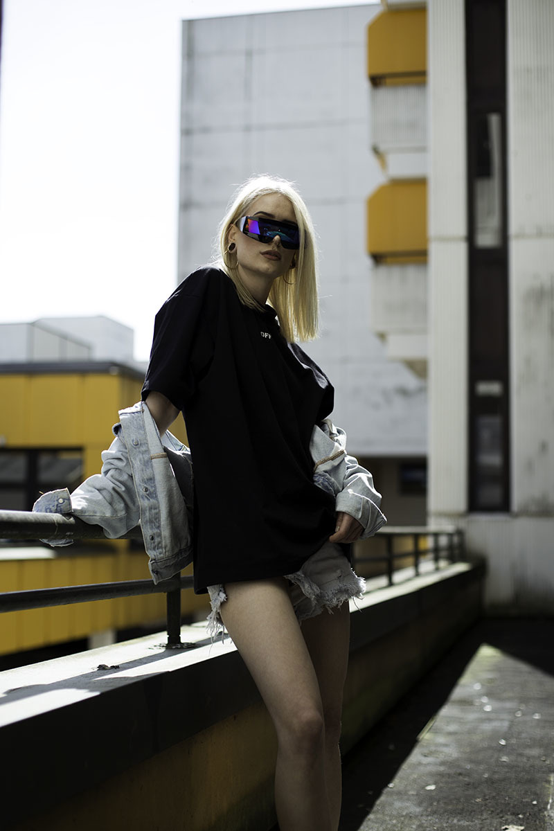 Mona marielle fashion shoot fizzy girl fizzy mag rooftop berlin streetwear