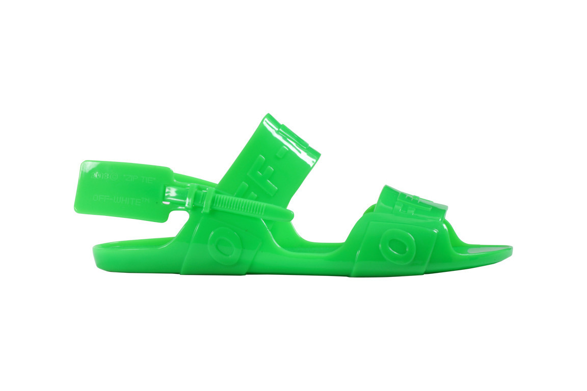 3fa31fb9e90391 Off-White s Throwback Jelly Sandals Will Make You All Kinds Of Nostalgic  The 90s Trends Just Keep On Coming Off-White has released a new jelly  sandal ...