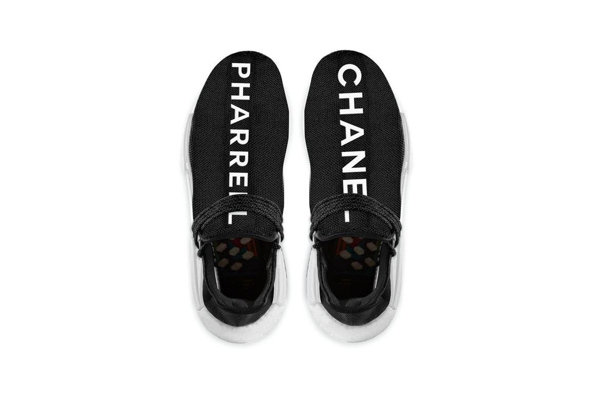 Here's Your First Look At The Chanel X Pharrell X Adidas Hu NMD