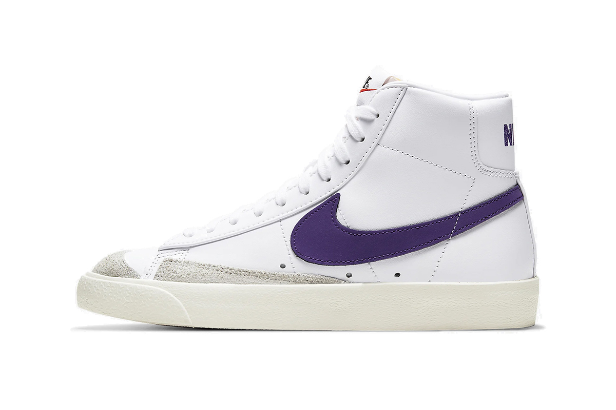 The Nike Blazer Mid Gets A Bold Hit Of Purple For It's Latest Release