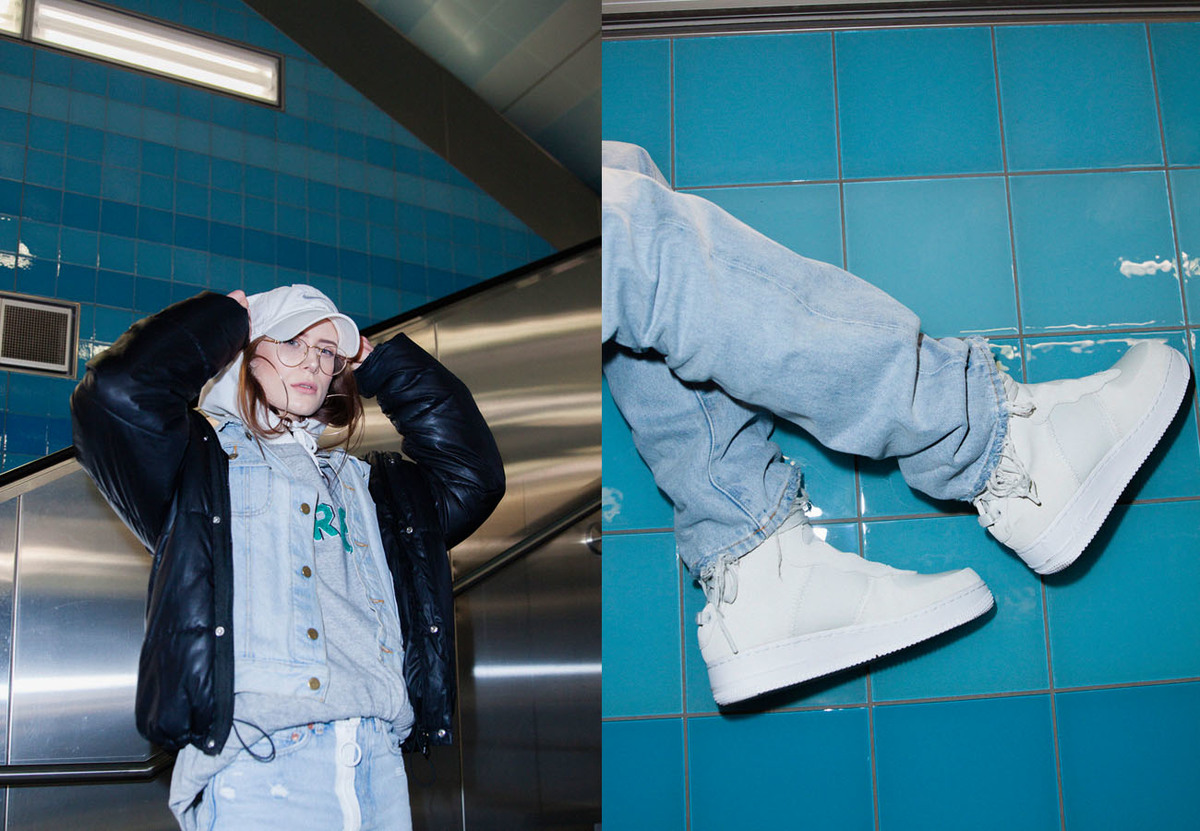 FIZZY GIRL Mona Marielle Stunts In The Nike Air Force 1 Rebel XX