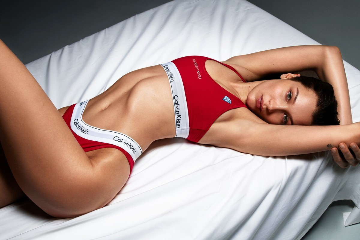 Bella Hadid Fronts Calvin Klein's #MYCALVINS Customizable Collection Campaign