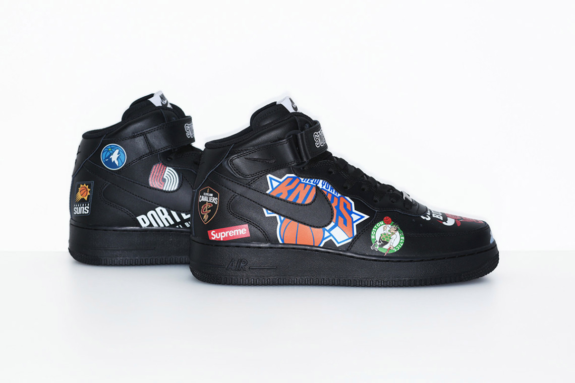 Supreme X Nike X NBA Team Up On Air Force 1 & Apparel Collection
