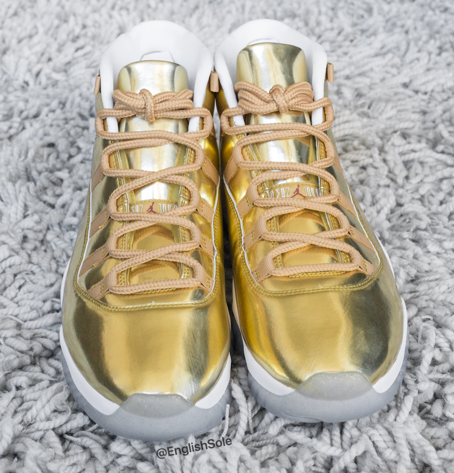First Look At 's Golden OVO Air Jordan 11s