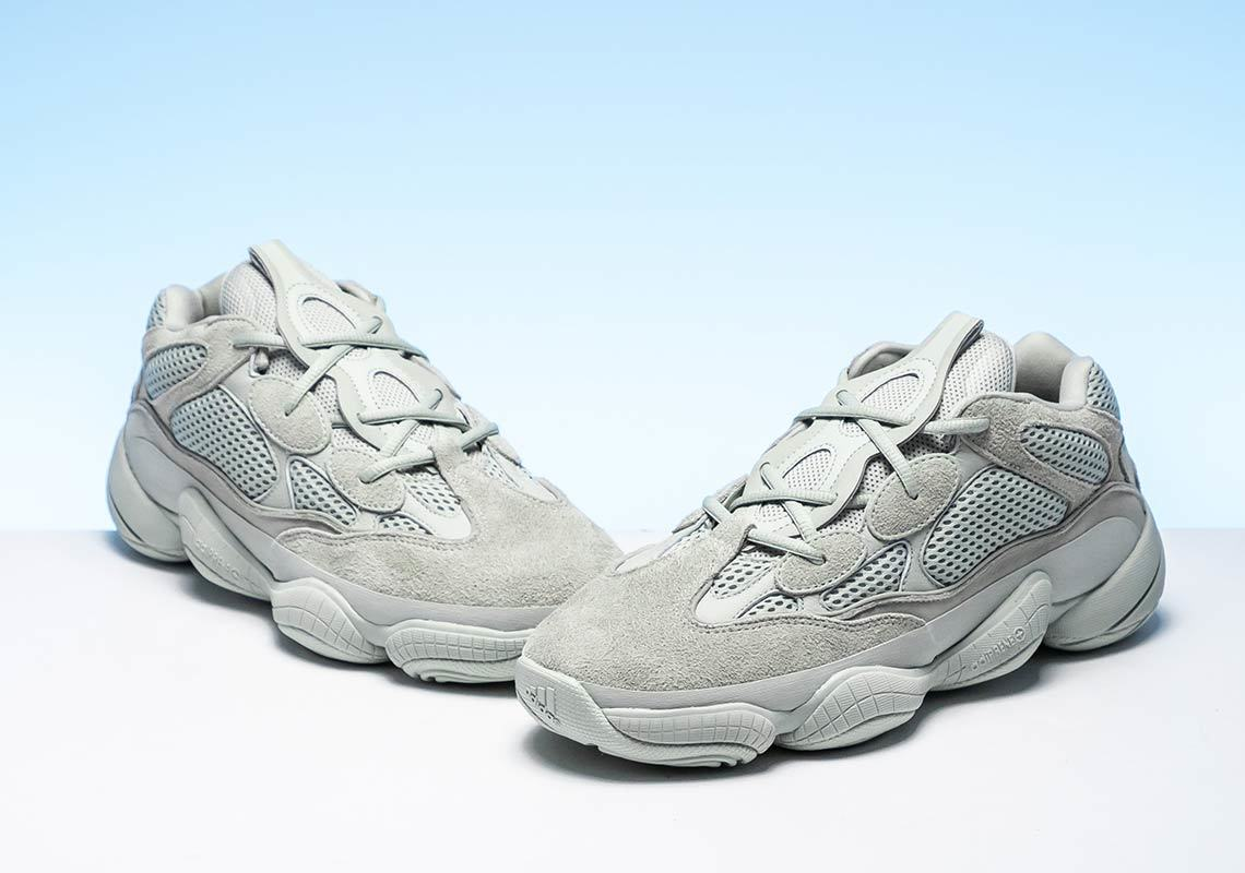 63b8ea52572 First Look At The Adidas Yeezy 500 s In  Salt  First Look At The Adidas  Yeezy 500 s In  Salt