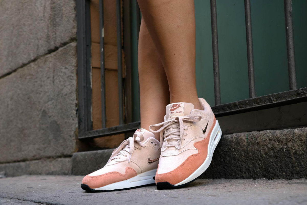 An On Feet Look at the Nike Women's Air Max 1 Premium SC Guava Ice