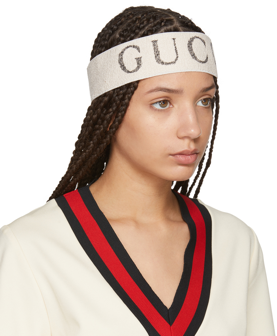 Perfect The Sports Luxe Look In This Gucci Logo Headband Perfect The ... 6db77b6ef19
