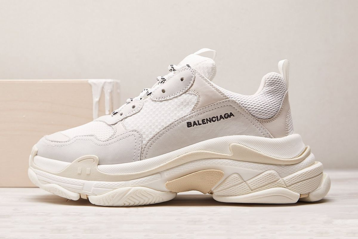 "Balenciaga Drops Its Sought-After Triple-S Sneaker In ""Creme"""