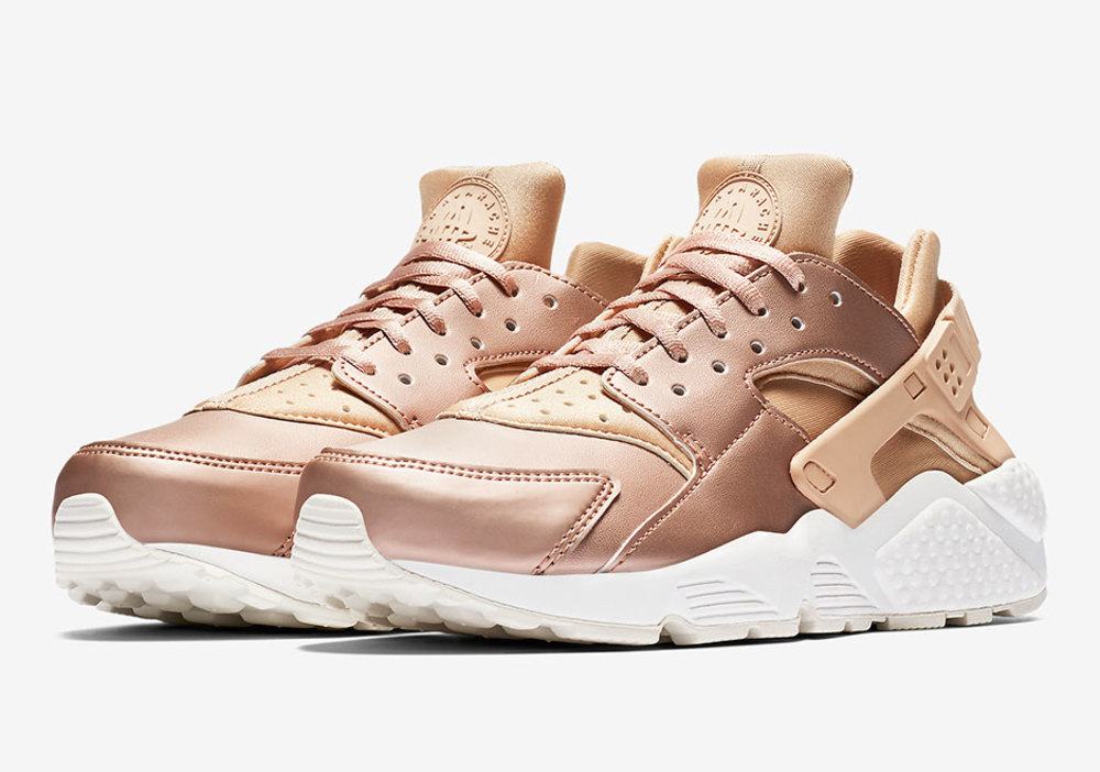 Nike's New Rose Gold Metallic Huaraches Are Sharp As Knives