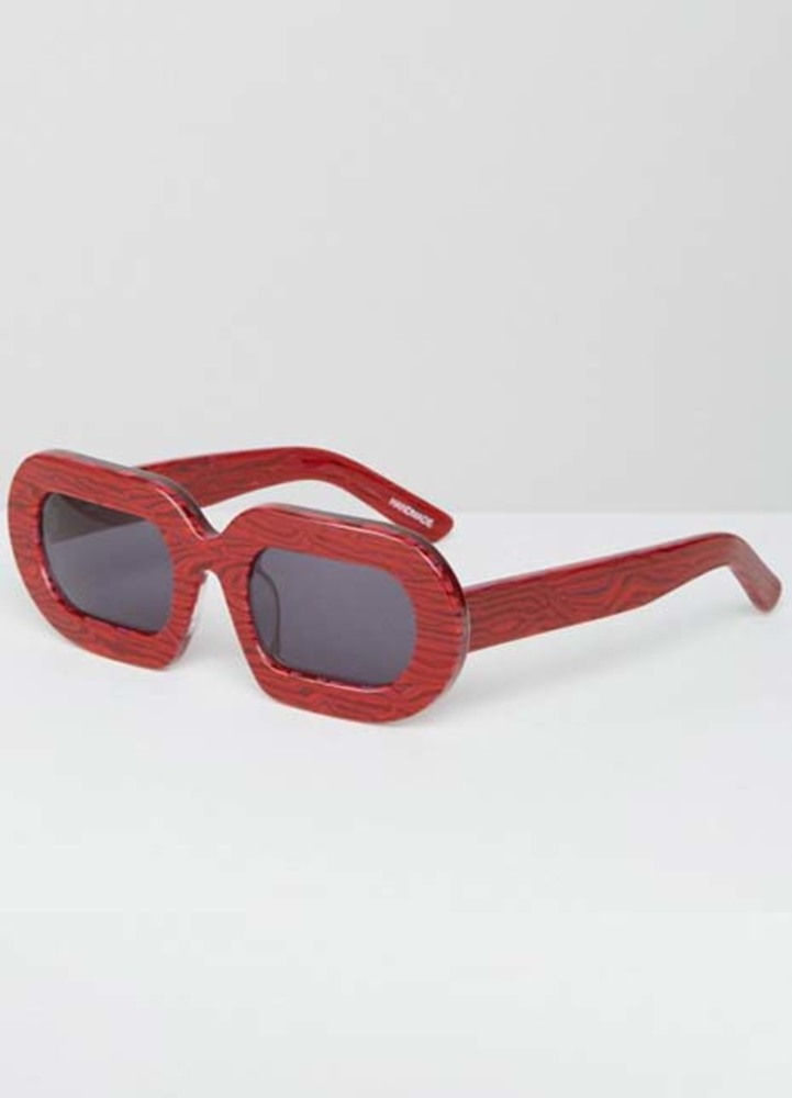 House of holland eggy red marble sunglasses kylie jenner get the look